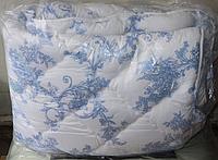 Полуторное одеяло из овечьей шерсти ODA бело-синее
