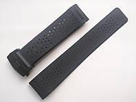 Каучуковый ремешок для часов, заокругленное окончание. TAG Heuer. Черная застежка. 22 мм, фото 1
