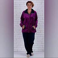 Женская махровая пижама больших размеров