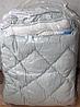 Одеяло Евро стандарта из овечьей шерсти ODA светло-серое