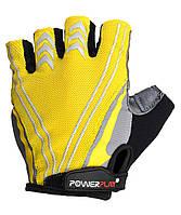 Велоперчатки PowerPlay L Желтые 5007CLYellow, КОД: 977466