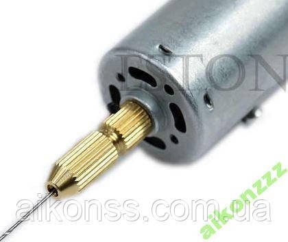 Міні дриль PCB цанговий патрон 1.5 - 9в 30000 про