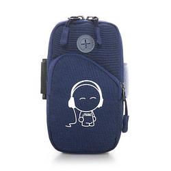 Cумка для бега, сумка - чехол на руку синяя Music