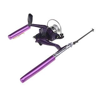 Карманная ручка-удочка Pocket Fishing Rod c катушкой | Мини удочка для рыбалки