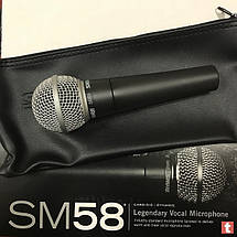 Вокальный беспроводной ручной микрофон SHURE SM58 SE с выключателем   Профессиональный динамический микрофон, фото 3