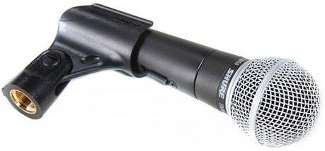 Вокальный беспроводной ручной микрофон SHURE SM58 SE с выключателем   Профессиональный динамический микрофон, фото 2