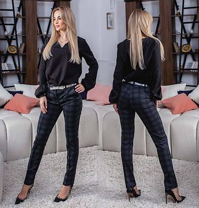 """Элегантные женские брюки 320-2 """"Алекс Классика Клетка"""""""