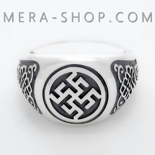 Цветок Папоротника перстень славянский из серебра 925 пробы