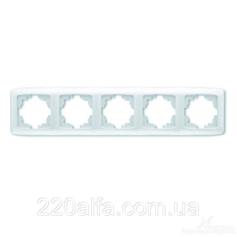 VIKO CARMEN  Рамка 5-я горизонтальная белый/крем