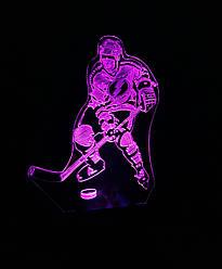 3d-світильник Хокеїст, 3д-нічник, кілька підсвічувань (на пульті)