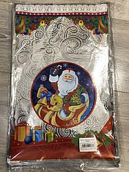Новогодняя подарочная фольгированная упаковка 25*40 Дед Мороз, 100 шт