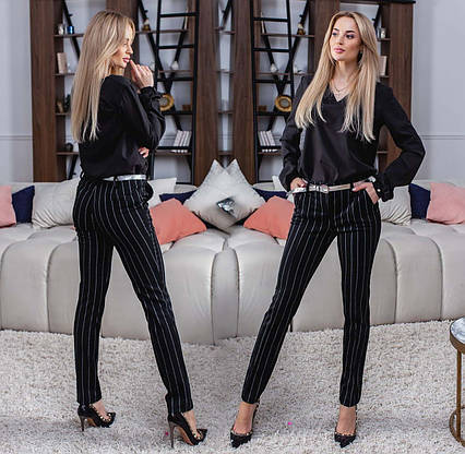 "Элегантные женские брюки 320-3 ""Алекс Классика Полоска"""