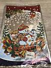 Новорічна подарункова фольгована упаковка 25*40 см Сніговик, фото 3