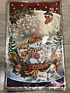 Новорічна подарункова фольгована упаковка 25*40 см Сніговик, фото 2
