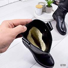 Ботинки женские зимние, черного цвета из натуральной кожи 8781. Черевики жіночі. Ботинки зима, фото 2