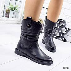 Ботинки женские зимние, черного цвета из натуральной кожи 8781. Черевики жіночі. Ботинки зима, фото 3