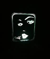 3d-светильник Красота Beauty, 3д-ночник, несколько подсветок (батарейка+220В)