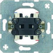 Выключатель одноклавишный 2-полюсный (механизм) 10АХ/250В Berker