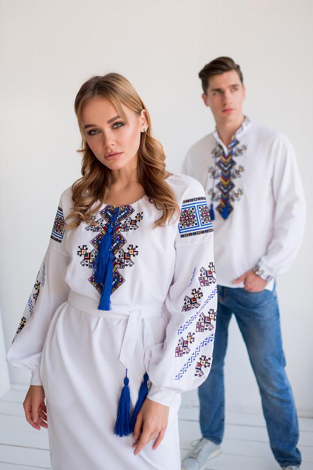 Вышиванки для пары платье и рубашка
