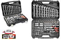 Качественный Набор инструментов для автомобиля в чемодане Yato(Оригинал)Professional