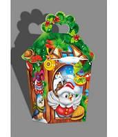Новогодняя коробка, Фонарик, 700 гр, Картонная упаковка для конфет