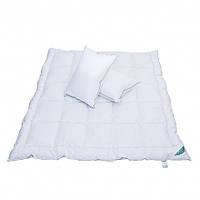 Пуховое одеяло Евро размера и две пуховые подушки (комплект)