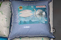 Подушка для сна из лебединого пуха 70х70 см.