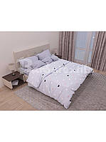 Комплект постельного белья Бязь Цветные Сердечка - полуторный (154139)