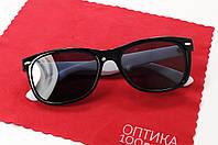 Сонцезахисні окуляри ДЛЯ ЗОРУ в стилі Ray-Ban з білими дужками
