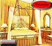 """Кровать кованая  двуспальная с балдахином """"Дженифер """""""