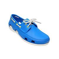 Мокасины Crocs мужские Beach Line Boat Shoe голубые 40 разм.