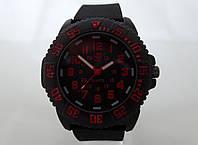 Мужские часы LUMINOX, бардовая индикация, фото 1