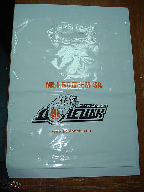 Полиэтиленовый пакет банан 32*44 с логотипом