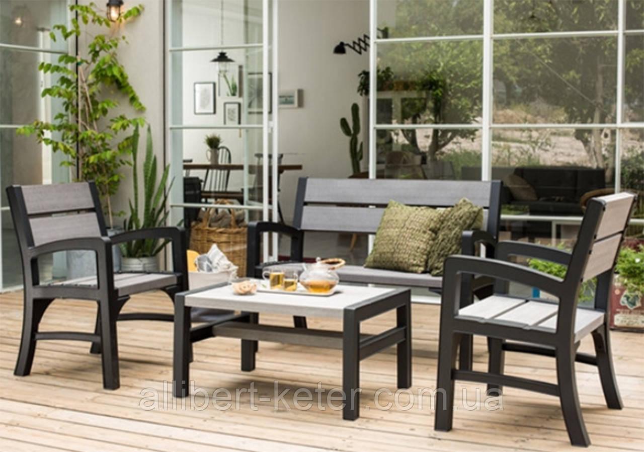 Набор садовой мебели Wood Look And Feel Bench Set