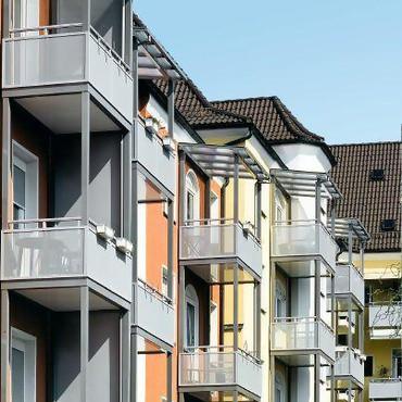 Многоярусный балкон Schüco