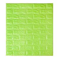 Самоклеющаяся декоративная 3D панель под зеленый кирпич 700x770x7мм, фото 1