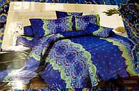 Полуторное постельное белье София синего цвета