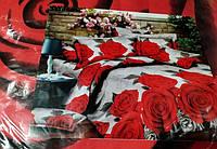 Полуторное постельное белье София красные розы