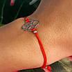 Браслет красная нить на руку с серебряным амулетом, фото 3
