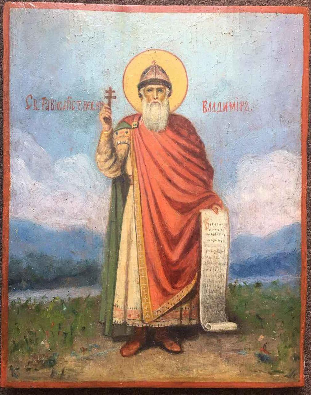 Икона св.князь Владимир 19 век