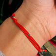 Браслет красная нить на руку с серебряным амулетом, фото 5