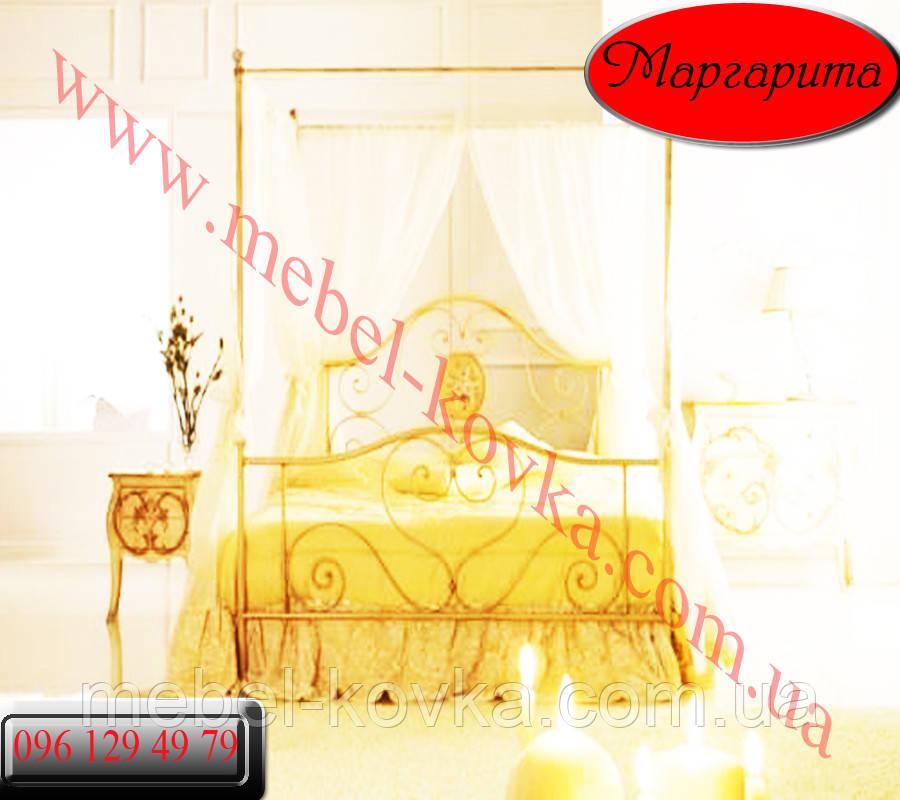 """Ліжко двоспальне коване з балдахіном """"Маргарита """""""