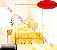 """Кровать кованая  двуспальная с балдахином """"Маргарита """""""