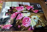 Постельное белье Евро размера София цветы