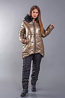 Женский теплый зимний костюм / плащевка, холофайбер 200, эмми / Украина 47-2268