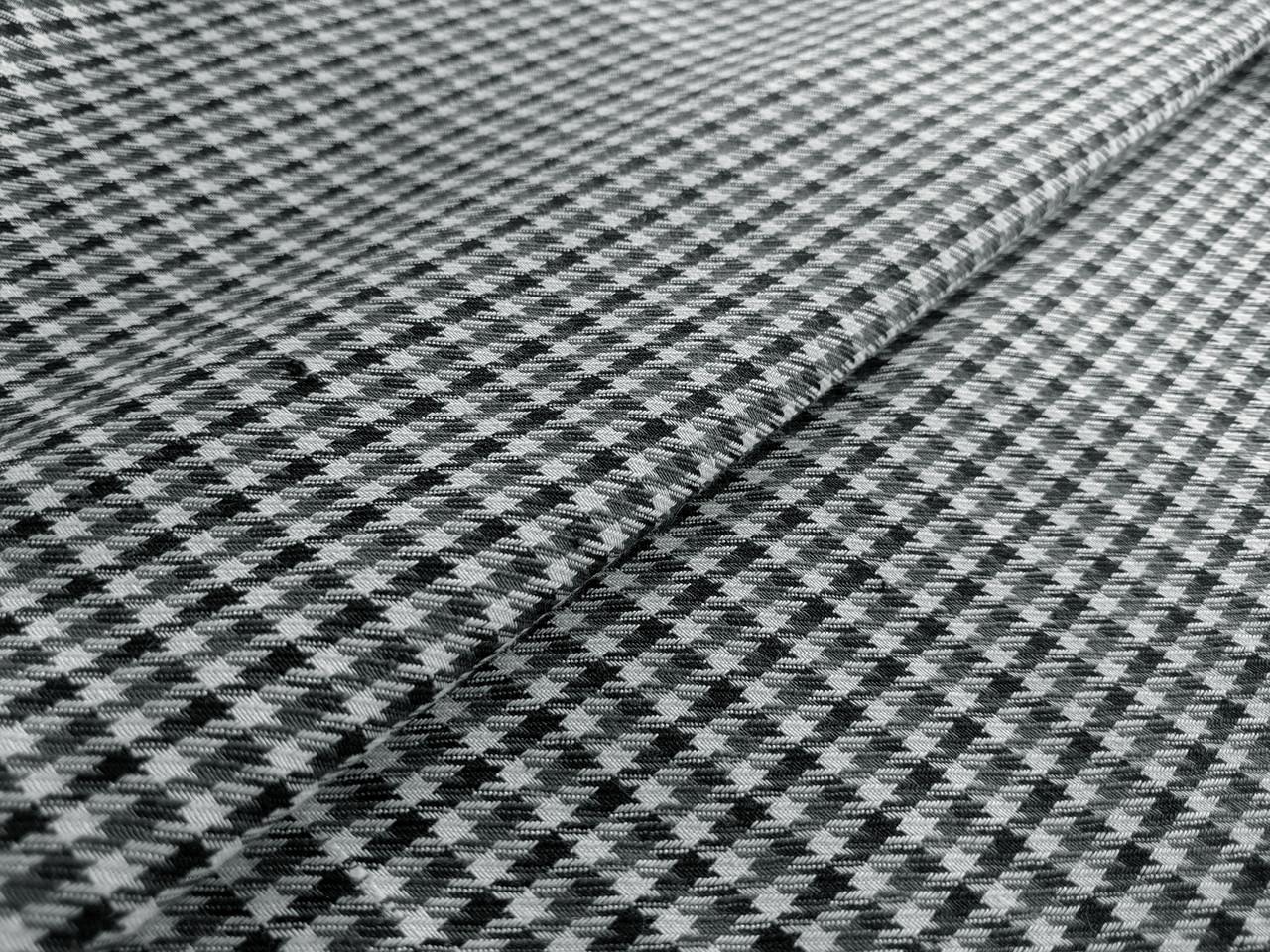 Костюмка гленчек гусиная лапка, черно-белый с серым