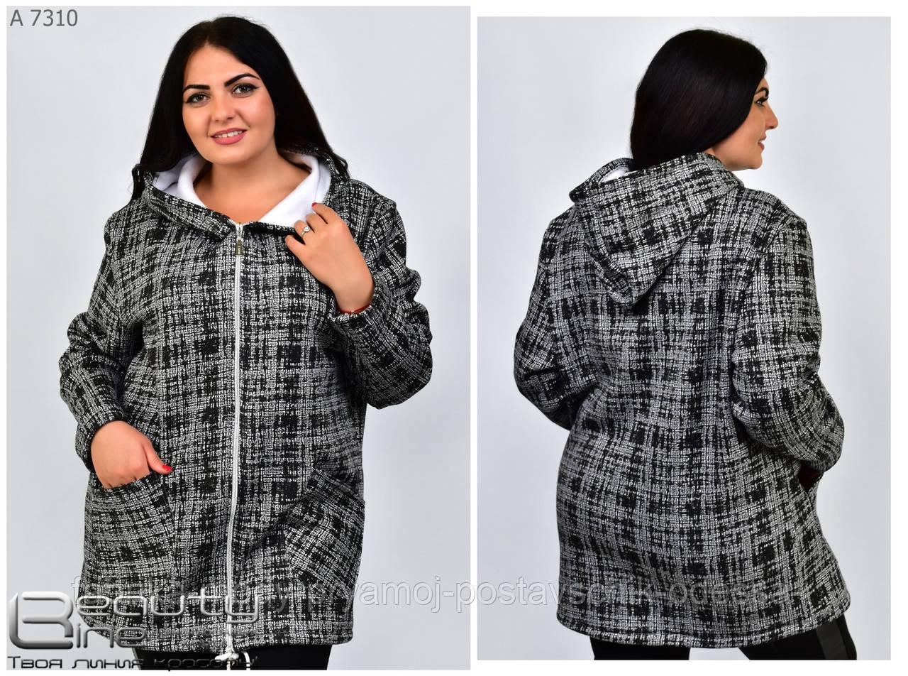 Толстовка ,куртка  большие размеры р48-56 №7410