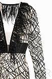Короткое вечернее платье с абстрактным узором, фото 5