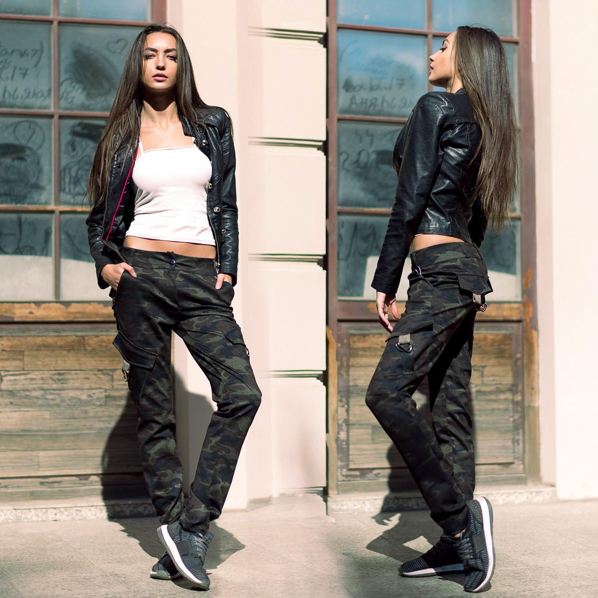 """Женский стильные брюки 484-1 """"Алекс Камуфляж"""""""