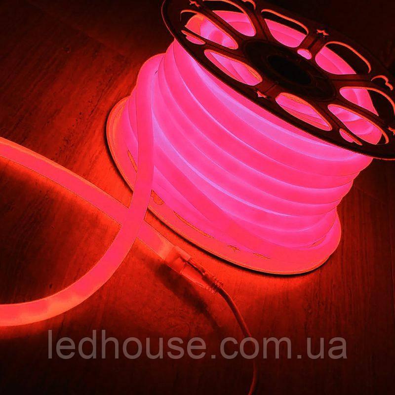 Красный Светодиодный Гибкий Неон LED FLEX 220V 360° ip68 круглый